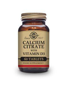 Solgar Kalcijum citrat plus vitamin D3 60 tableta