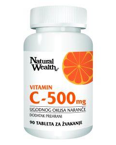Natural Wealth Vitamin C 500 mg 90 tableta za žvakanje