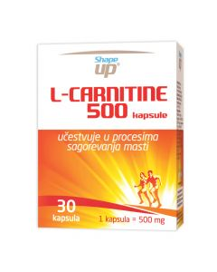 Shape up L-carnitine 500 30 kapsula