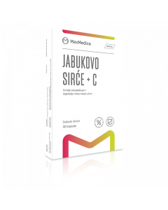 Maxmedica Jabukovo sirće + C, 30 kapsula
