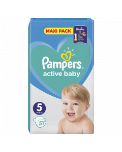 Pampers Active Baby VPP pelene, veličina 5 (11-16 kg), 51 komada
