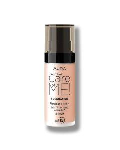 Aura tečni puder Take care of me 804 Golden 30 ml