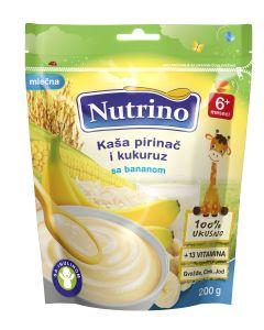 Nutrino Mlečna kaša - Pirinač, Kukuruz, Banana 200g