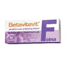 Betavitevit Folna kiselina i vitamin B6 40 tableta