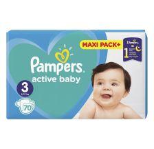 Pampers Active Baby JPM pelene, veličina 3 (6-10 kg), 70 komada