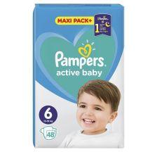 Pampers Active Baby JPM pelene, veličina 6 (13-18 kg), 48 komada