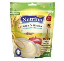 Nutrino BezMlečna kaša - 5 Žitarica, Jabuka, Banana 200g