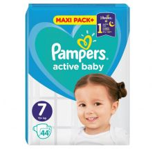 Pampers Active Baby JPM pelene, veličina 7 (+15 kg), 44 komada