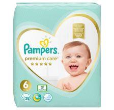 Pampers Premium Care VP pelene, veličina 6 (13kg+), 38 komada