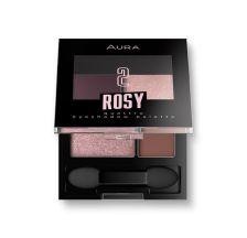 Aura Paleta senki za oči Rosy 3,5 g