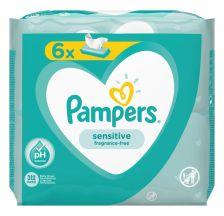 Pampers Sensitive, vlažne maramice, 6x52 komada