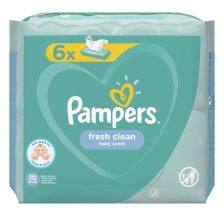 Pampers Fresh, vlažne maramice, 6x52 komada