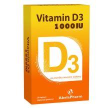 Vitamin D3 1000 IU, 30 kapsula