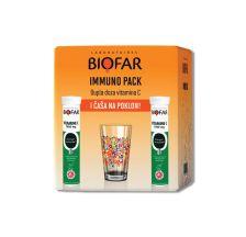 Biofar Immuno paket Vitamin C + čaša